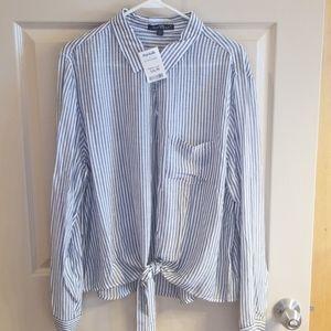 Velvet Heart button down striped shirt